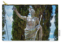 Carry-all Pouch featuring the photograph Bronze Copy Of Augustus Of Prima Porta Sculpture In Spain by Eduardo Jose Accorinti