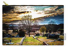 Brooding Sky Over Cemetery Carry-all Pouch