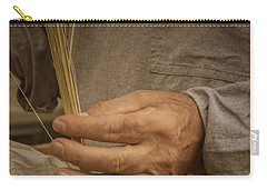 Carry-all Pouch featuring the photograph Broom  Maker by Guy Whiteley