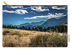 Brown Grass And Mountains Carry-all Pouch