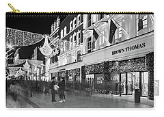 Carry-all Pouch featuring the photograph Brown Thomas On Grafton Street At Night - Dublin by Barry O Carroll