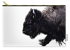 Buffalo On White Carry-all Pouch