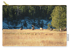 Carry-all Pouch featuring the photograph Bull And His Babes by Pete Federico