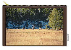 Carry-all Pouch featuring the photograph Bull And His Babes Poster by Pete Federico