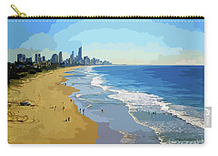 Burleigh Beach Gold Coast Australia 070708 Cartoon Carry-all Pouch