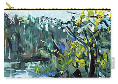 Carry-all Pouch featuring the painting Burton Dock II by John Jr Gholson