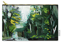 Carry-all Pouch featuring the painting Burton Dock by John Jr Gholson