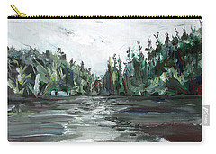 Carry-all Pouch featuring the painting Burton Lake by John Jr Gholson