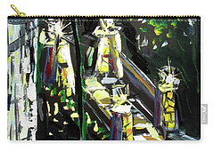 Carry-all Pouch featuring the painting Burton Lanterns by John Jr Gholson