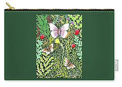 Butterflies In The Millefleurs Carry-all Pouch