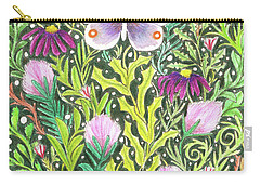 Butterfly In The Millefleurs Carry-all Pouch
