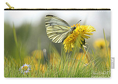 Butterfly On Dandelion Carry-all Pouch