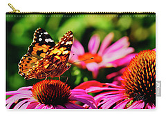 Carry-all Pouch featuring the photograph Butterfly Side by Meta Gatschenberger