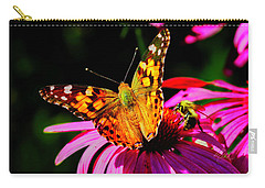 Carry-all Pouch featuring the photograph Butterfly Wings Open by Meta Gatschenberger