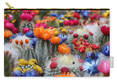 Carry-all Pouch featuring the photograph Cacti Flowers by Top Wallpapers