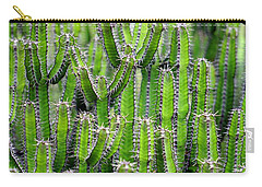 Carry-all Pouch featuring the photograph Cacti Wall by Top Wallpapers