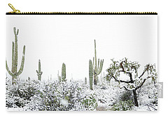 Cactus In The Snow Carry-all Pouch