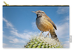 Cactus Wren On A Saguaro Cactus Carry-all Pouch