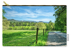 Carry-all Pouch featuring the photograph Cades Cove In Spring by Mel Steinhauer