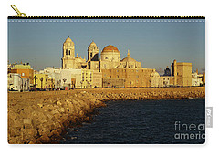 Carry-all Pouch featuring the photograph Cadiz Cathedral From Southern Field Spain by Pablo Avanzini