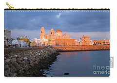 Carry-all Pouch featuring the photograph Cadiz Skyline And Cathedral Andalucia Spain by Pablo Avanzini
