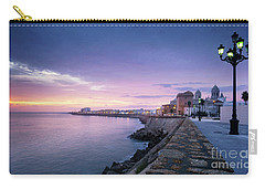 Carry-all Pouch featuring the photograph Cadiz Skyline And Cathedral by Pablo Avanzini