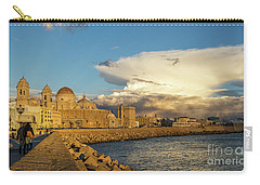 Carry-all Pouch featuring the photograph Cadiz Skyline And Cathedral Under Cumulonimbus by Pablo Avanzini