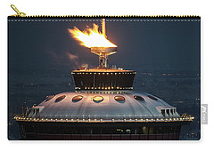 Carry-all Pouch featuring the photograph Calgary Tower - 2014 Olympic Torch by Brad Allen Fine Art