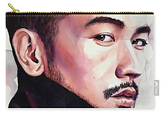 Carry-all Pouch featuring the painting Calm Confidence by Michal Madison