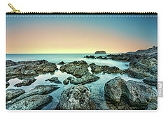 Calm Rocky Coast In Greece Carry-all Pouch
