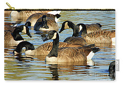 Carry-all Pouch featuring the photograph Canada Geese by Debbie Stahre
