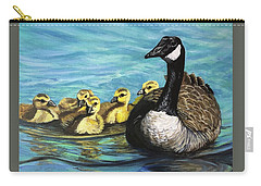 Canadian Goise And Goslings Carry-all Pouch