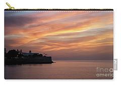 Carry-all Pouch featuring the photograph Candelaria Bulwark At Dusk Cadiz Spain by Pablo Avanzini