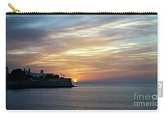 Carry-all Pouch featuring the photograph Candelaria Bulwark At Sunset Cadiz Spain by Pablo Avanzini
