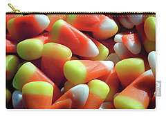 Carry-all Pouch featuring the photograph Candy Corn For Halloween by Bill Swartwout Fine Art Photography
