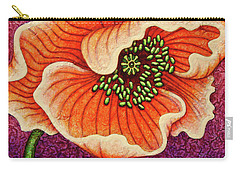 Carry-all Pouch featuring the painting Cantaloupe Countenance by Amy E Fraser