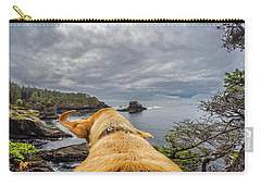 Carry-all Pouch featuring the photograph Cape Flattery By Photo Dog Jackson by Matthew Irvin