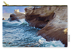 Carry-all Pouch featuring the photograph Cape Kiwanda Oregon V4 by Rospotte Photography