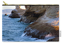Carry-all Pouch featuring the photograph Cape Kiwanda Pacific City Oregon 101818 by Rospotte Photography
