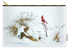 Cardinal Angel In The Snow Carry-all Pouch