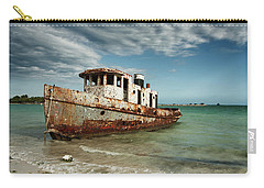 Carry-all Pouch featuring the photograph Caribbean Shipwreck 21002 by Rick Veldman