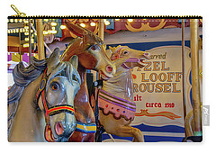 Carry-all Pouch featuring the photograph Carousel Friends by Kristia Adams