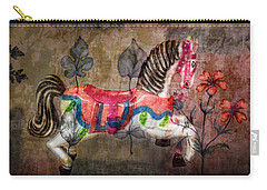Carry-all Pouch featuring the photograph Carousel Prancing Dream by Michael Arend