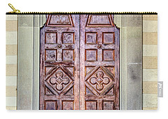 Carved Door Of Cortona Carry-all Pouch