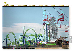 Carry-all Pouch featuring the photograph Casino Pier - Seaside Heights by Kristia Adams