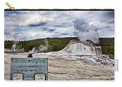 Carry-all Pouch featuring the photograph Castel Geyser In Yellowstone May Erupt by Tatiana Travelways
