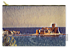 Carry-all Pouch featuring the digital art Castle In Sea by Lucia Sirna