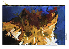 Cat And The Cobalt Blue Wall Carry-all Pouch