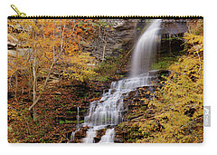 Carry-all Pouch featuring the photograph Cathedral Falls by Pete Federico