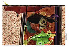 Carry-all Pouch featuring the photograph Catrina Bonita In The Balcony by Tatiana Travelways